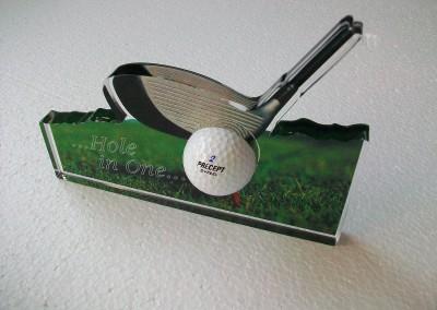 golf plexiglass