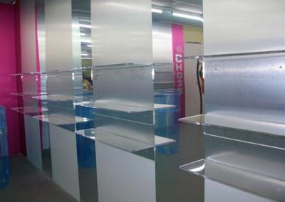 mensole negozio plexiglass