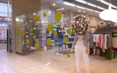 negozio abbigliamento plexiglass