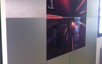 parete plexiglass stampato alluminio