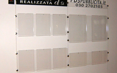 porta depliant plexiglass