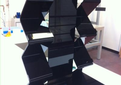 porta riviste plexiglass nero