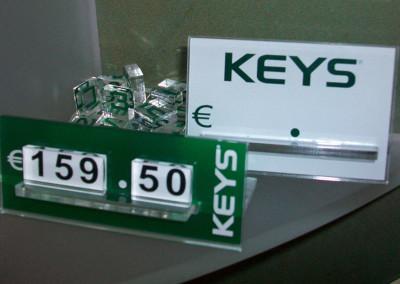 prezzo keys plexiglass